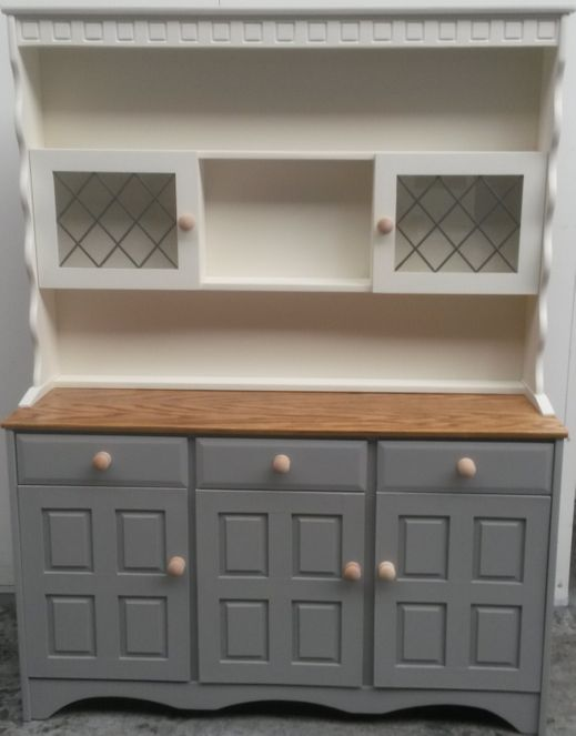 white and grey cabinet respray