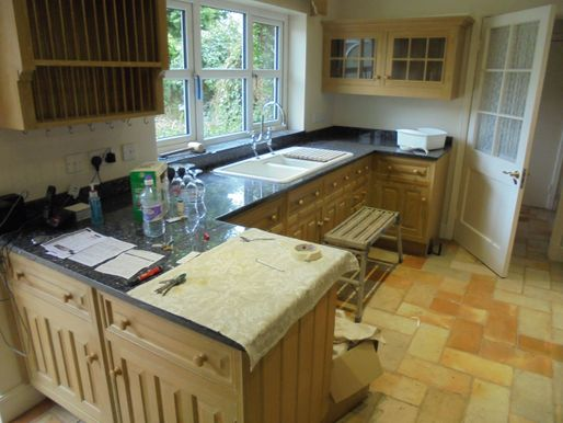 After image of a Kitchen before kitchen doors are resprayed